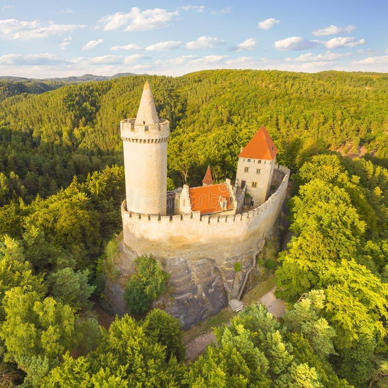 El castillo de Kokorin foto de archivo