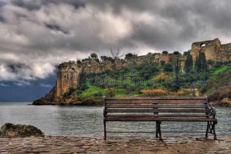 El castillo de Koroni, Grecia meridional imagen de archivo libre de regalías
