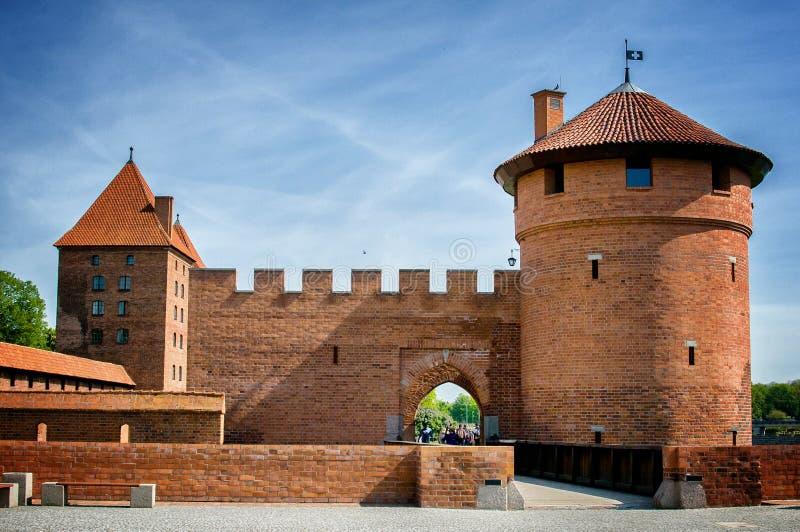 El castillo de la orden teutónica en Malbork foto de archivo libre de regalías