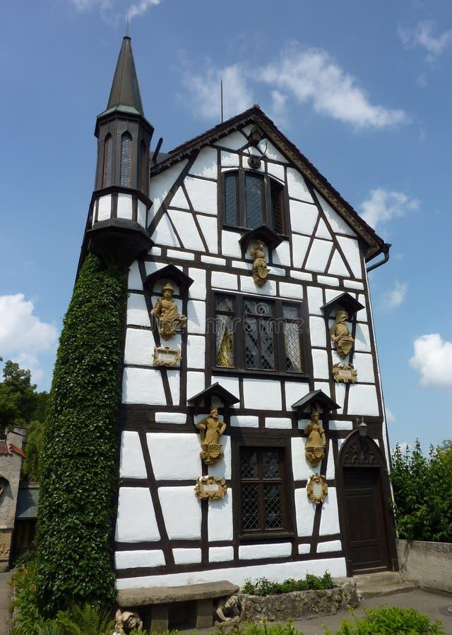 El castillo de lichtenstein del cuento de hadas imagen de archivo libre de regalías