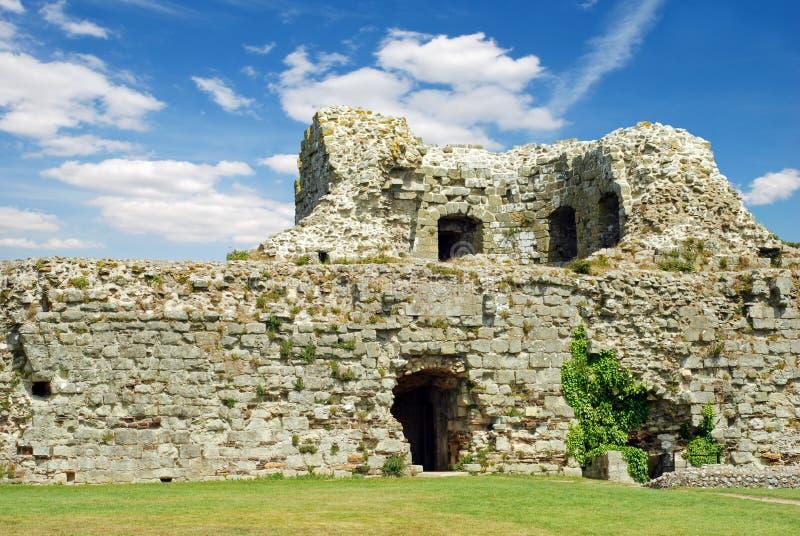 El castillo de Pevensey arruina el pevensey Inglaterra fotografía de archivo