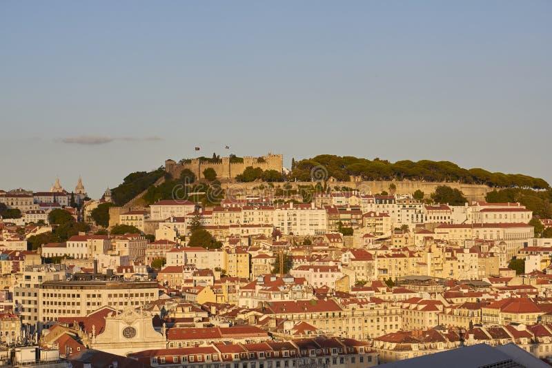 El castillo de São Jorge imagenes de archivo