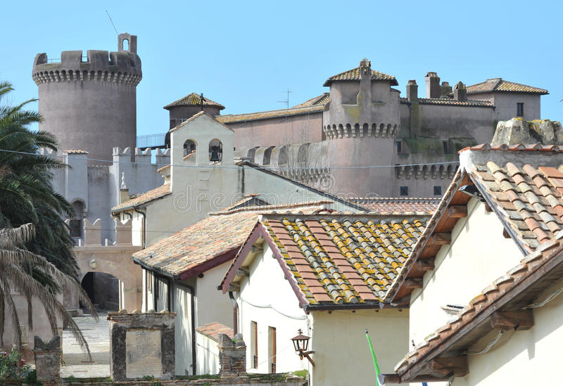 El castillo de Santa Severa fotos de archivo
