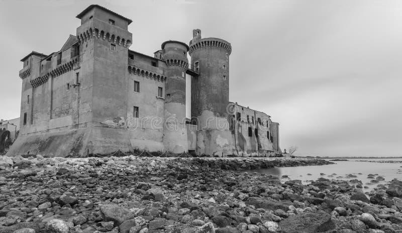 El castillo de Santa Severa imagen de archivo