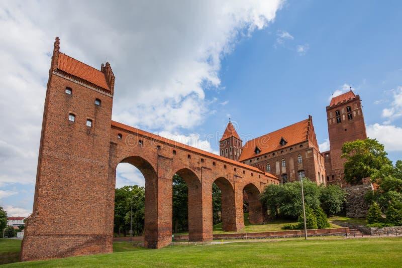 El castillo defensivo del siglo XIV fotografía de archivo libre de regalías