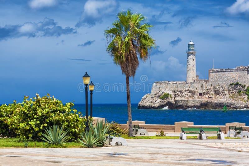 El castillo del EL Morro en La Habana foto de archivo