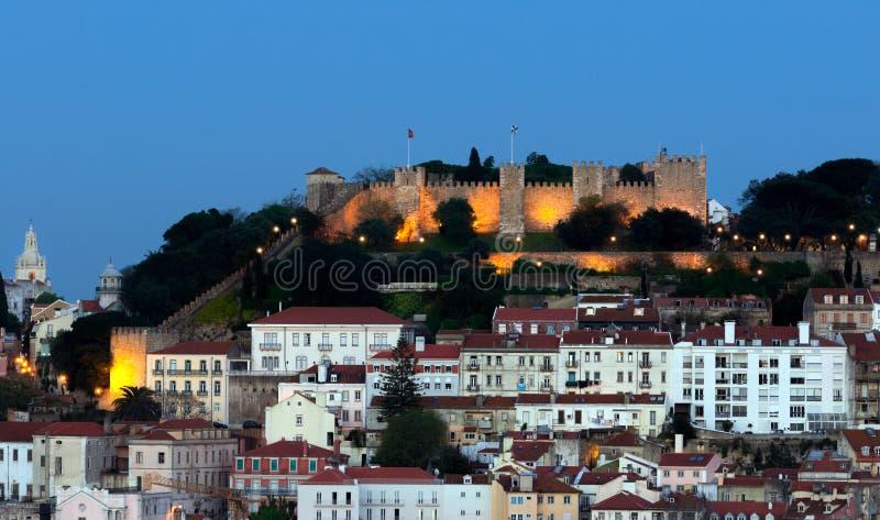 El castillo del sao Jorge imagen de archivo libre de regalías