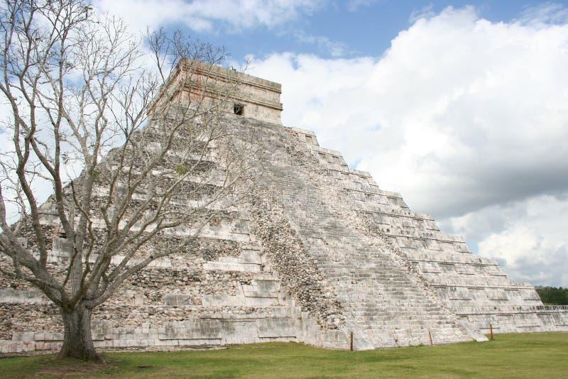 EL Castillo em Chichen Itza, México. fotos de stock royalty free