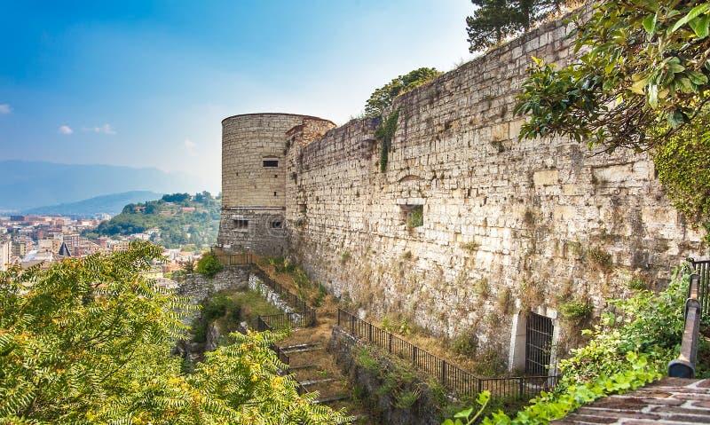 El castillo en Brescia en Italia fotografía de archivo libre de regalías