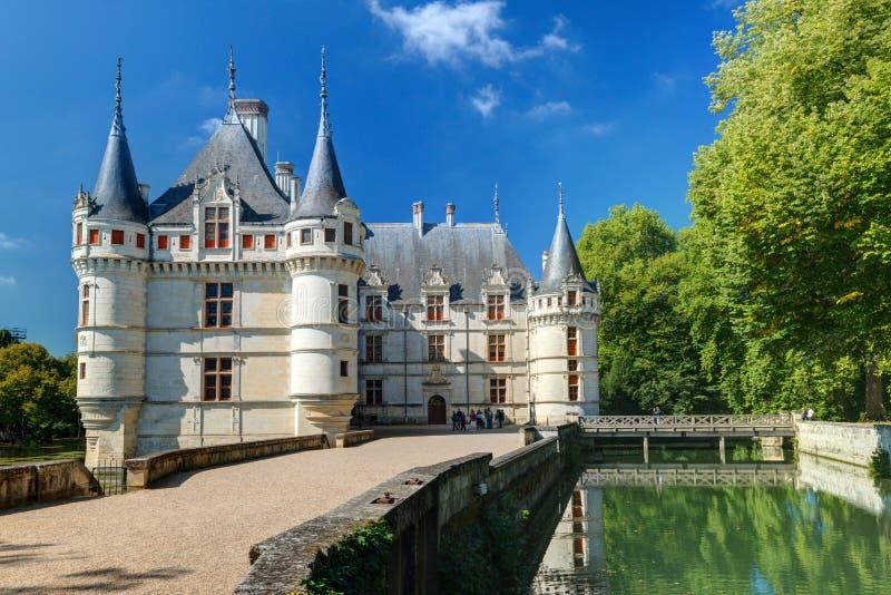 El castillo francés de Azay-le-Rideau, Francia fotografía de archivo libre de regalías