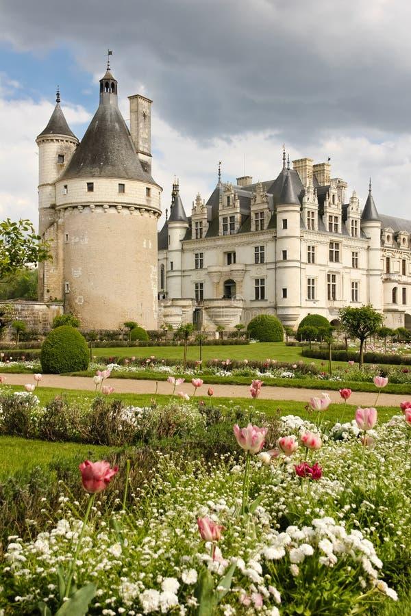 El castillo francés de Chenonceau Chenonceaux francia imagen de archivo libre de regalías