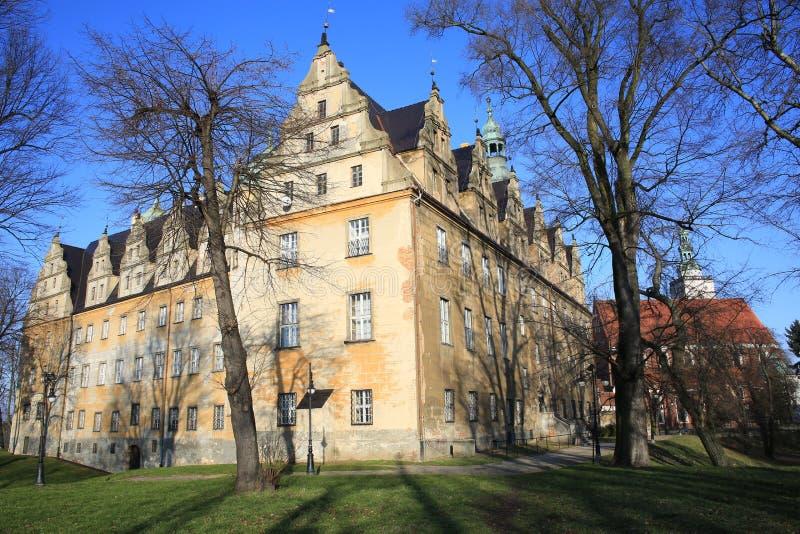 El castillo histórico Olesnica en Polonia imagenes de archivo