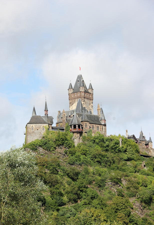 El castillo imperial de Cochem (Reichsburg), Alemania fotos de archivo
