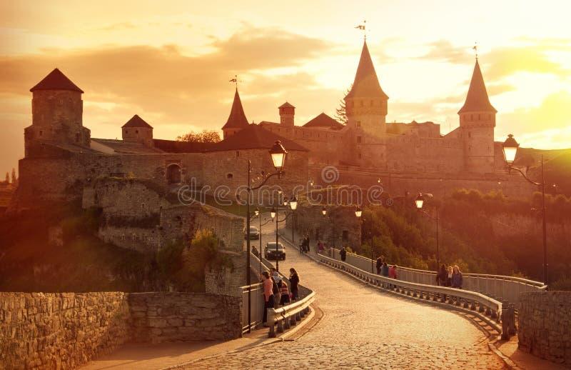 El castillo Kamenetz-Podolsk, Ucrania imágenes de archivo libres de regalías