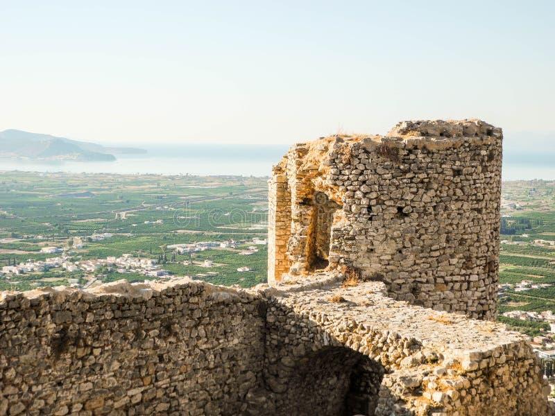 El castillo Larissa foto de archivo