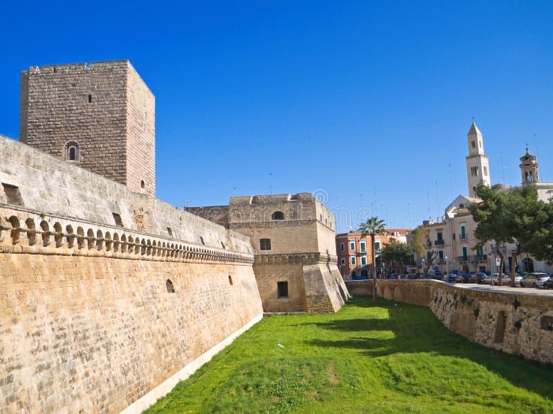 El castillo Normando-Suabio de Bari. Apuli imagenes de archivo