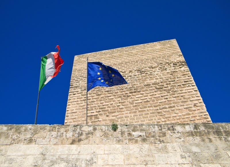 El castillo Normando-Suabio de Bari. Apulia. imagen de archivo