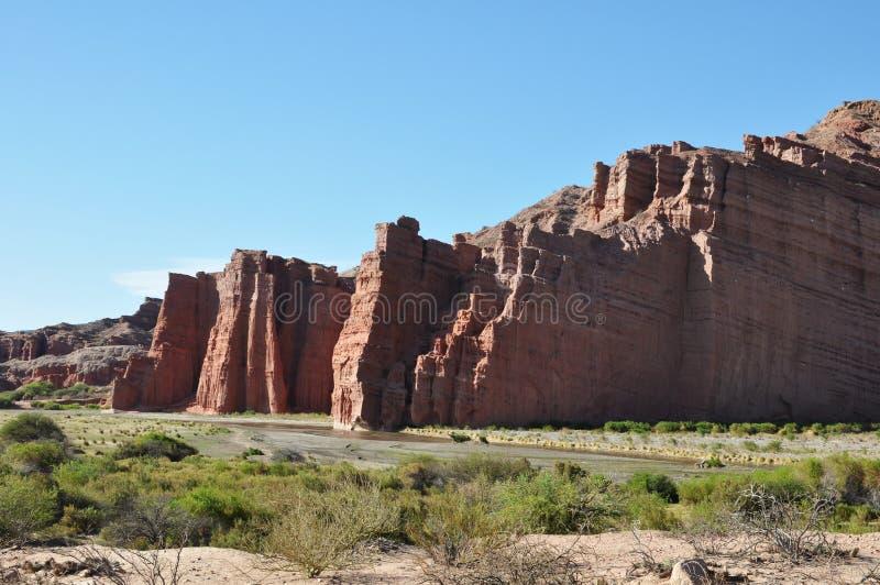 El Castillo o el castillo es una formación de roca en Cafayate, provincia de Salta fotos de archivo libres de regalías