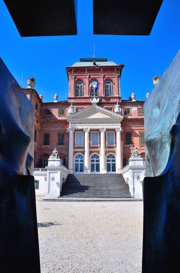 El castillo real de Racconigi, imágenes de archivo libres de regalías