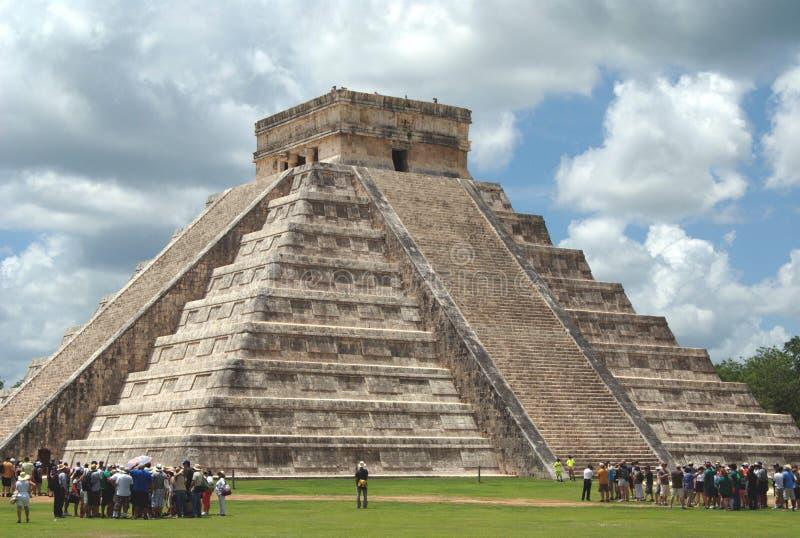 El Castillo Temple de Kukulcan, Chichen Itza, Mexique photo stock
