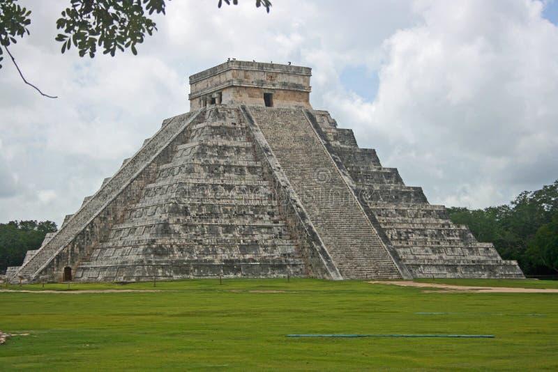El Castilo Temple in Chichen Itza, Mexico. El Castilo Temple known also as Kukulkan Pyramid stock photos