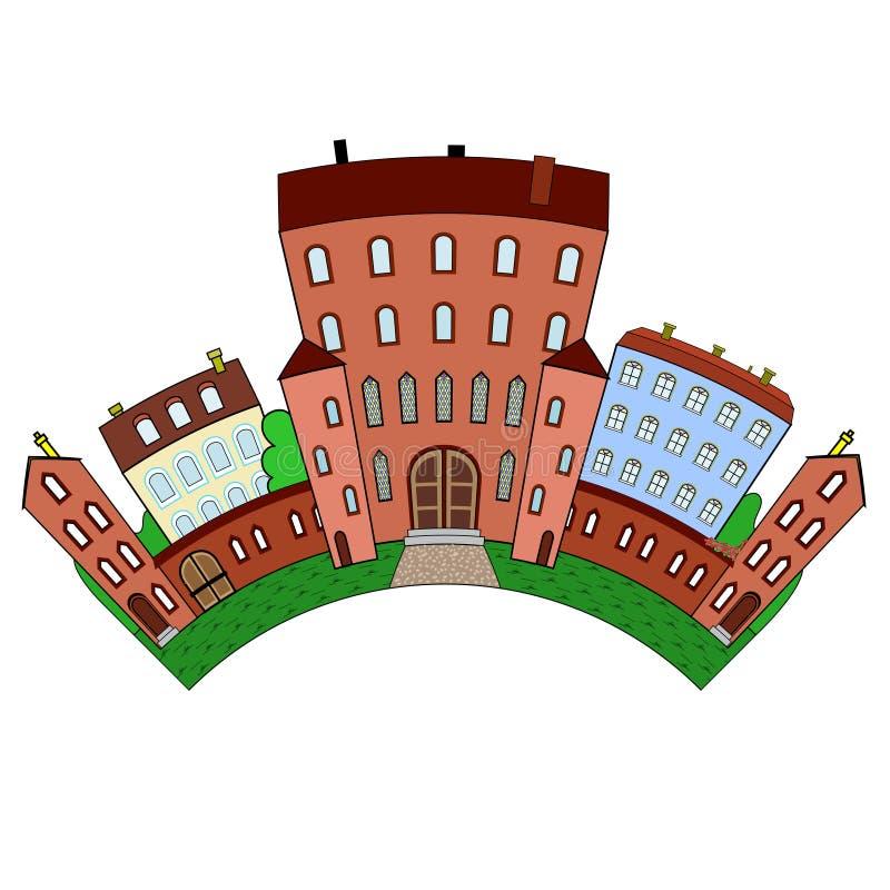 El castl, arco stock de ilustración