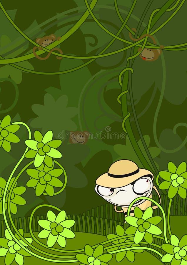 Download El cazador en selva ilustración del vector. Imagen de ilustración - 22403363