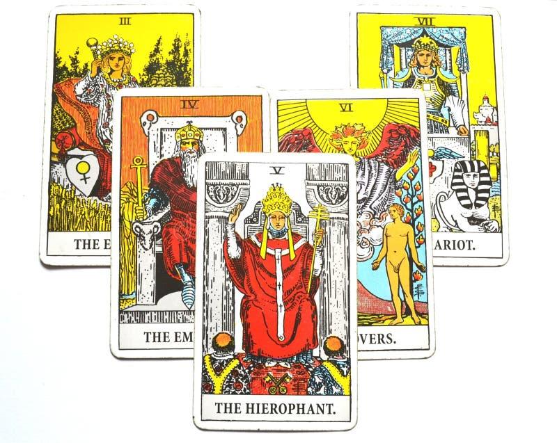 El ccult de Guru de la tradición de la educación de las instituciones de la carta de tarot de Hierophant ilustración del vector