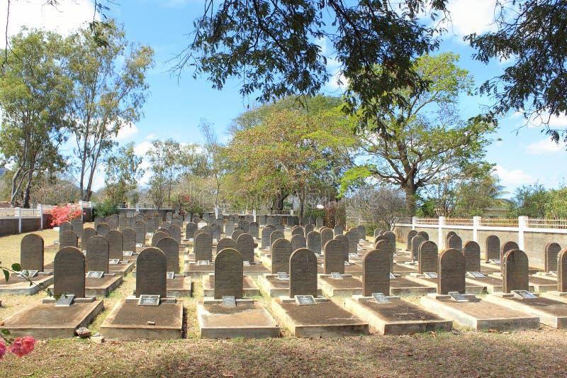 El cementerio del judío en San Martín, Mauricio fotografía de archivo libre de regalías
