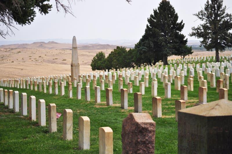 El cementerio en poco Bighorn en Montana fotos de archivo libres de regalías