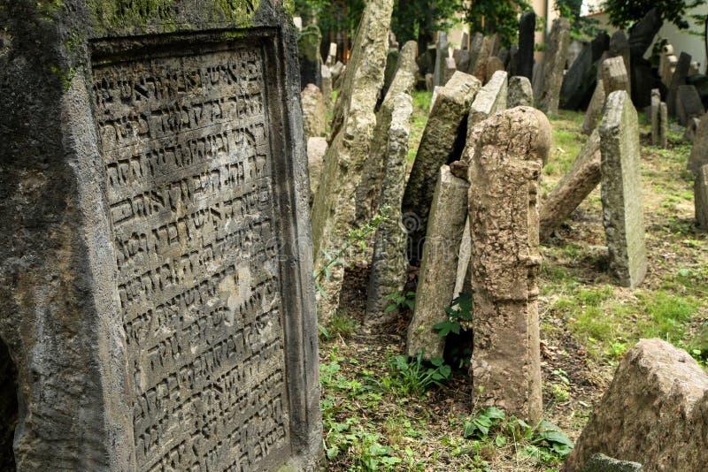 El cementerio judío muy viejo fotos de archivo