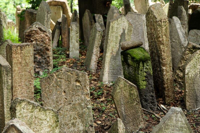El cementerio judío muy viejo imagen de archivo