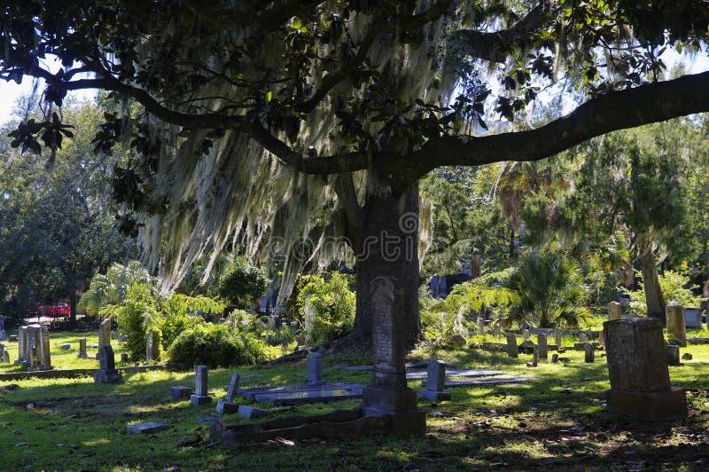 El cementerio viejo de la ciudad de Tallahassee es el más viejo cementerio de la ciudad, Tallagasse foto de archivo