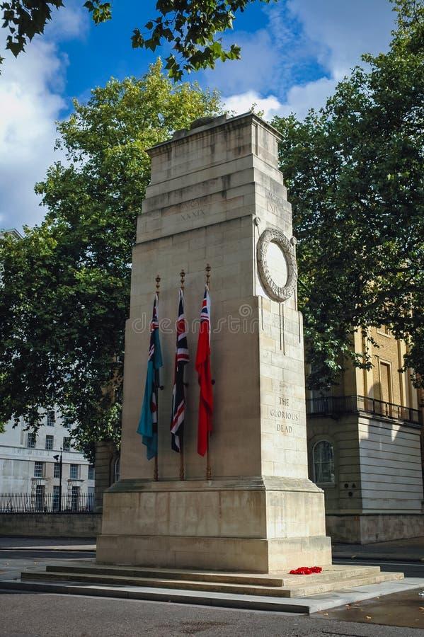El cenotafio en Londres imágenes de archivo libres de regalías