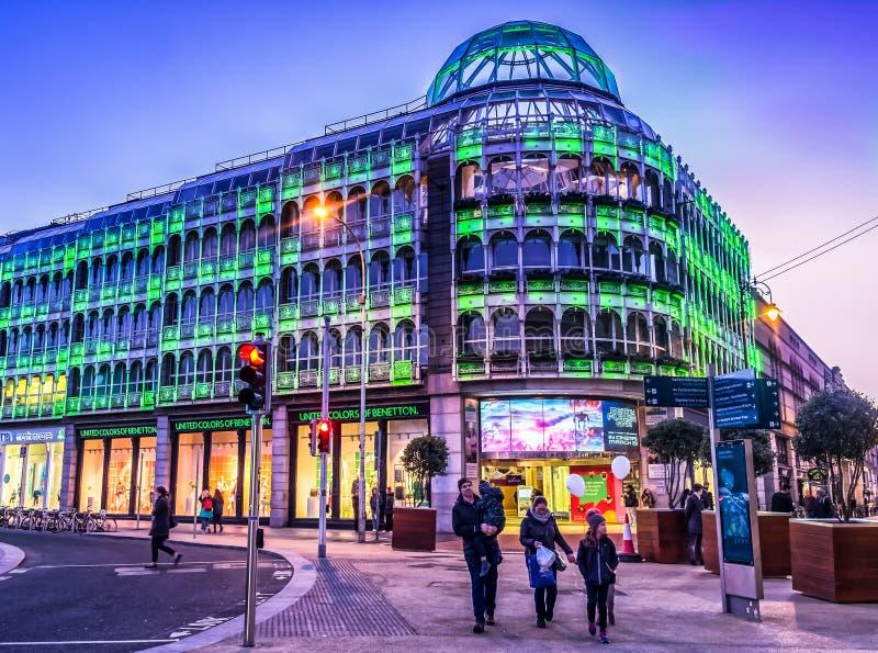 El centro comercial verde de Dublín-Stephen imagen de archivo
