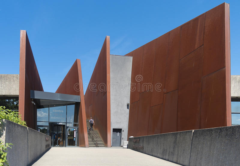 El centro conmemorativo del oradour-sur-glane fotografía de archivo
