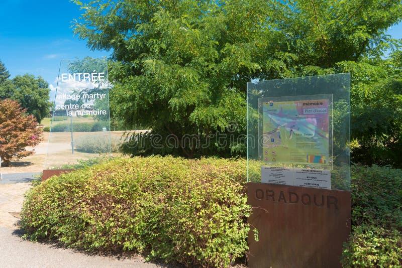 El centro conmemorativo del oradour-sur-glane fotos de archivo libres de regalías