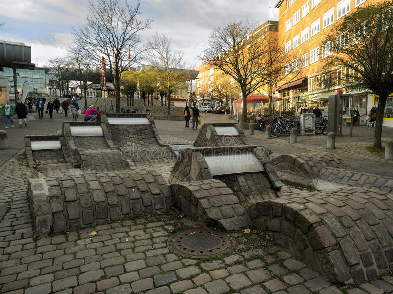El centro de ciudad en Kiel, Alemania fotos de archivo libres de regalías