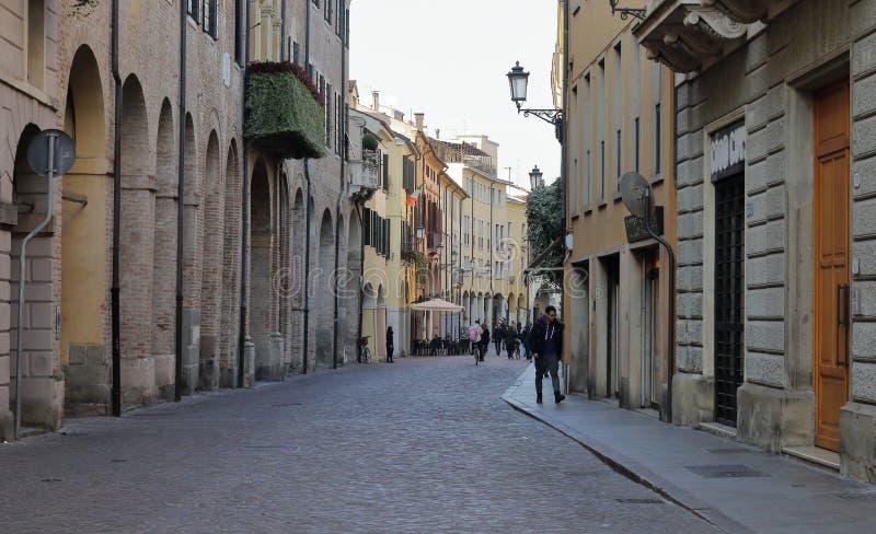 El centro de ciudad hist?rico de Padua fotografía de archivo libre de regalías