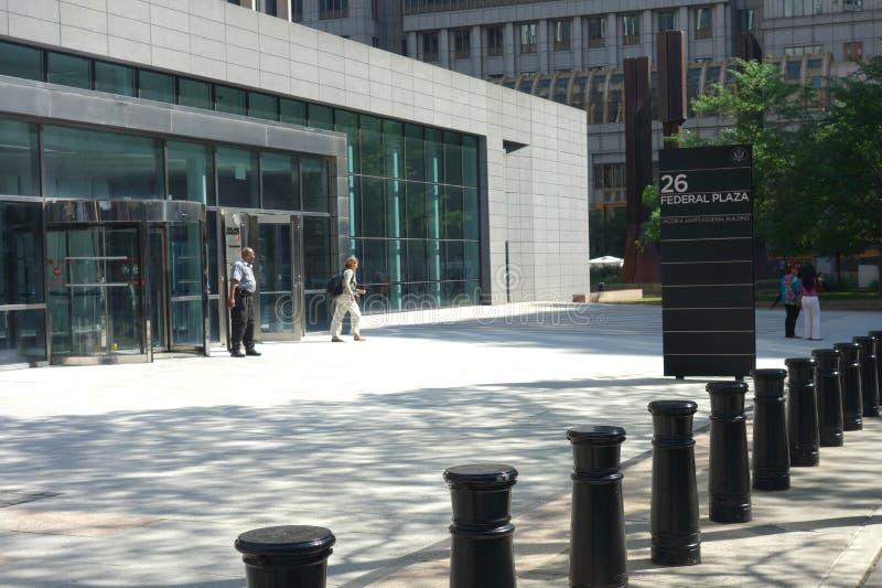 El centro de convención de Jacob K Edificio federal de Javits foto de archivo