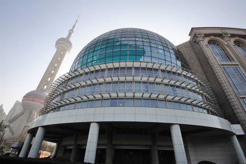 Centro de convenio internacional de Shangai imagen de archivo