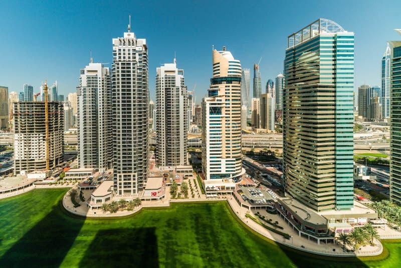 El centro de Dubai soleado fotos de archivo libres de regalías