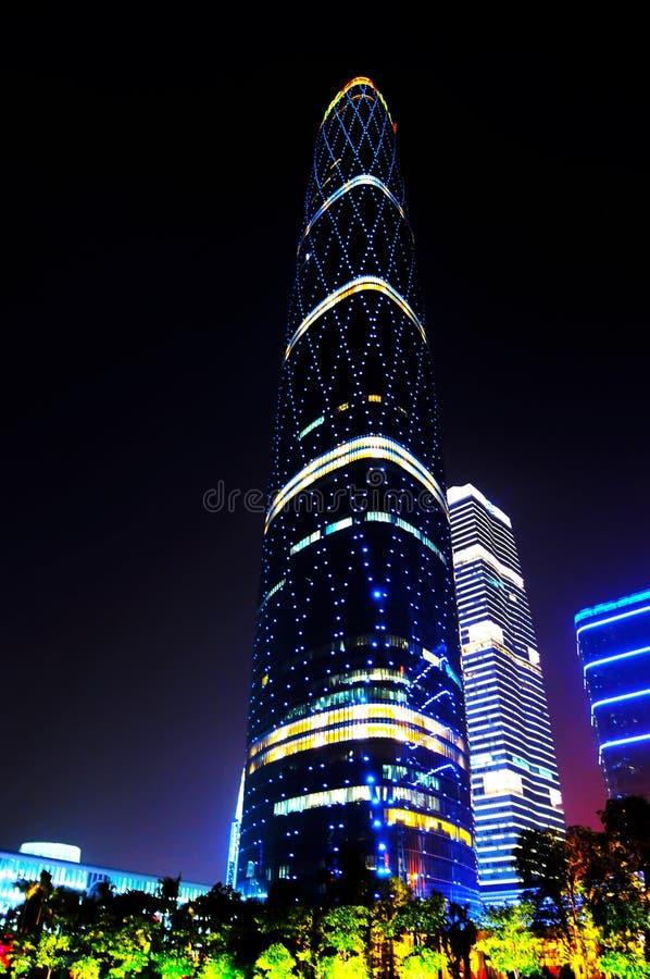 El centro de las finanzas internacionales de Guangzhou imagenes de archivo