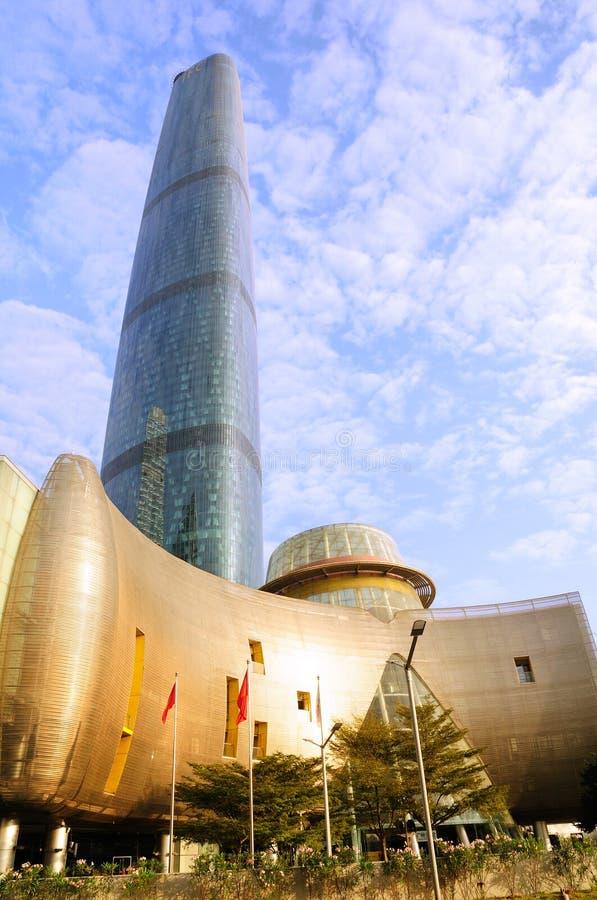 El centro de las finanzas internacionales de Guangzhou (GZIFC) foto de archivo libre de regalías