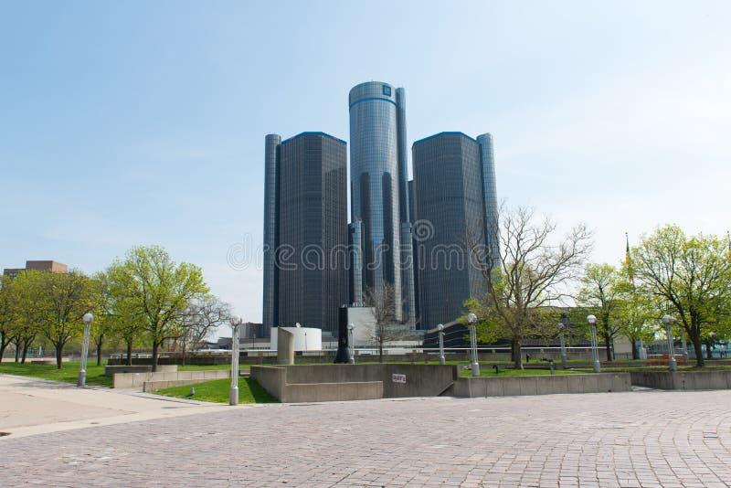 El centro del renacimiento del GM, rencen en Detroit Michigan los E.E.U.U. imagen de archivo