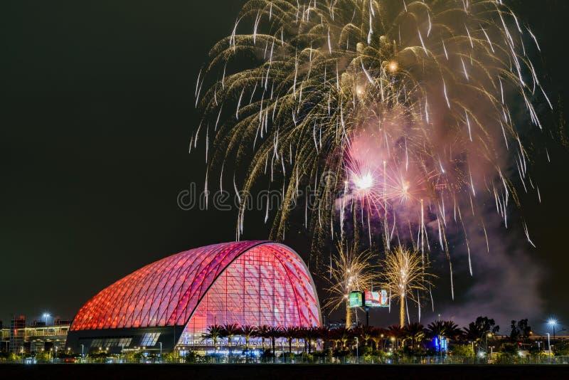 El centro intermodal regional hermoso del tránsito de Anaheim fotografía de archivo libre de regalías