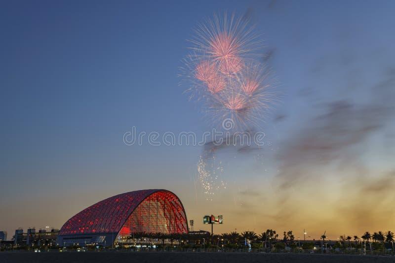El centro intermodal regional hermoso del tránsito de Anaheim foto de archivo libre de regalías