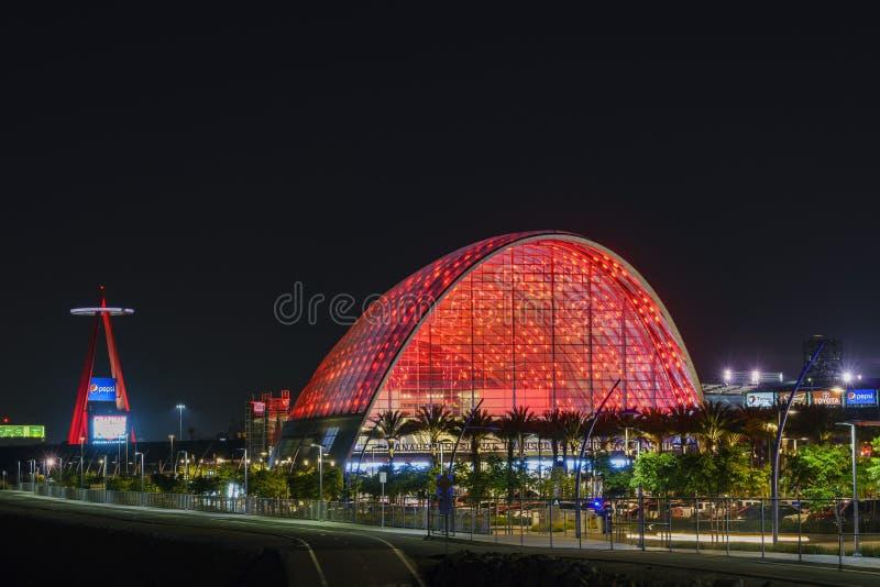 El centro intermodal regional hermoso del tránsito de Anaheim imagen de archivo libre de regalías