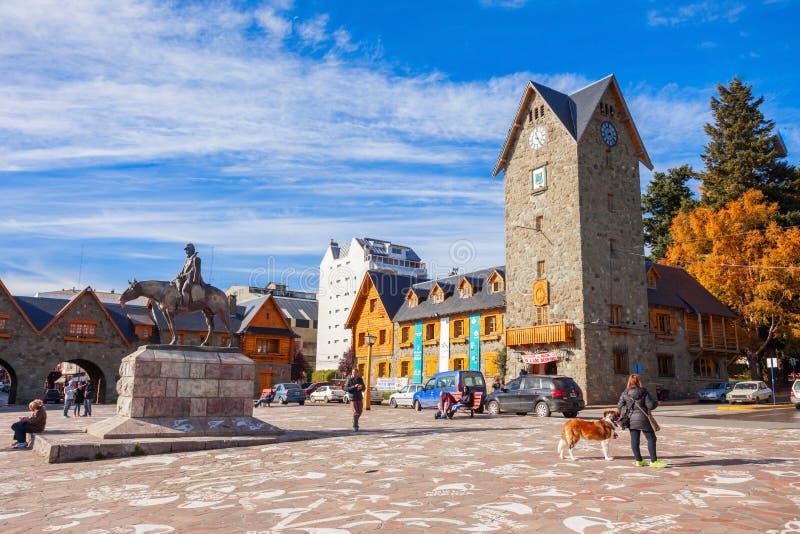 El centro municipal de Bariloche fotografía de archivo libre de regalías