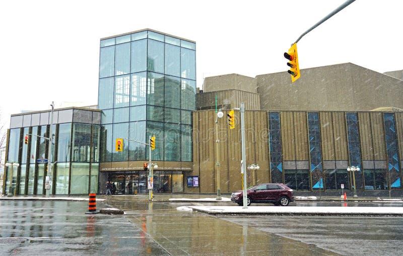 El centro nacional NAC de los artes en Ottawa, Canadá foto de archivo libre de regalías